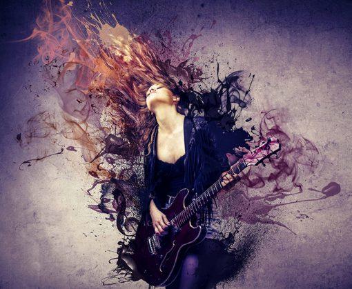 Fotomural Vinilo Juvenil Musica Rock
