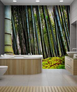 Vinilo baño Bosque Bambu
