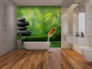Vinilo baño Spa Bambu Piedra