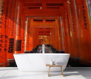 Vinilo baño japon