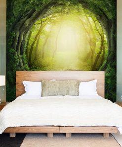 Fotomural Vinilo Dormitorio Bosque
