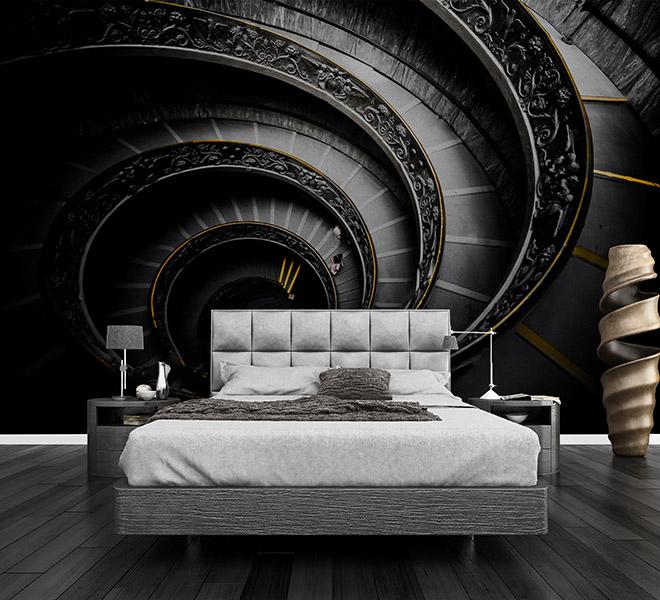 Fotomural Vinilo Dormitorio Escalera Vaticano