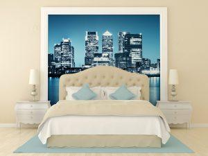 Fotomural Vinilo Dormitorio SkyLine Londres
