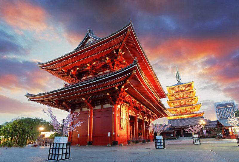 Lienzo Santuario Meiji Japon