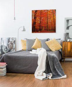 Lienzo Dormitorio Bosque Otoño