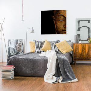Lienzo Dormitorio Buda Dorado