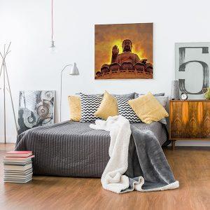 Lienzo Dormitorio Buda