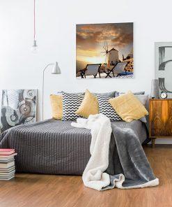 Lienzo Dormitorio Santorini Grecia
