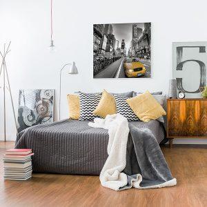 Lienzo Dormitorio Times Square Nueva York