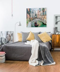 Lienzo Dormitorio Canales Venecia