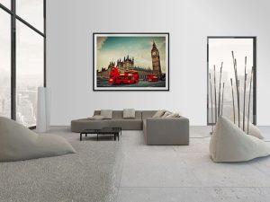 Lienzo Salon Palacio de Westminster Londres