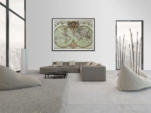 Lienzo Salon Mapa Mundo