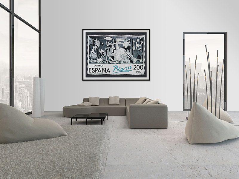Lienzo Salon Guernica Sello