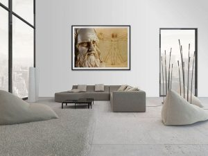 Lienzo Salon Leonardo Da Vinci