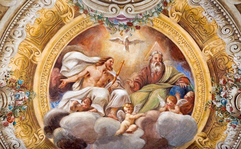 Lienzo la Santísima Trinidad