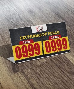 Portaprecio Doble Polleria