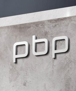 Letra PVC Blanco
